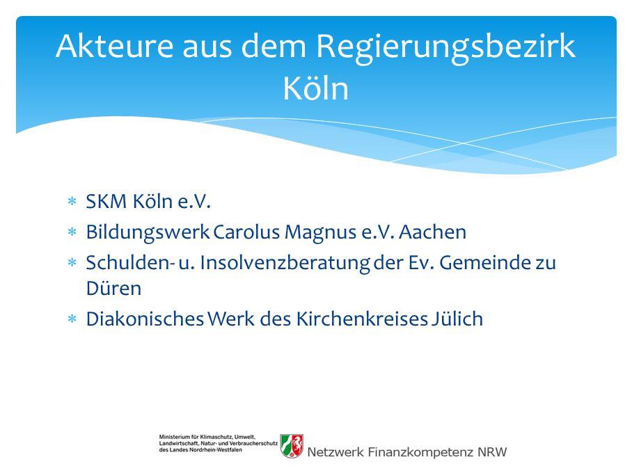 Akteure aus dem Regierungsbezirk Köln