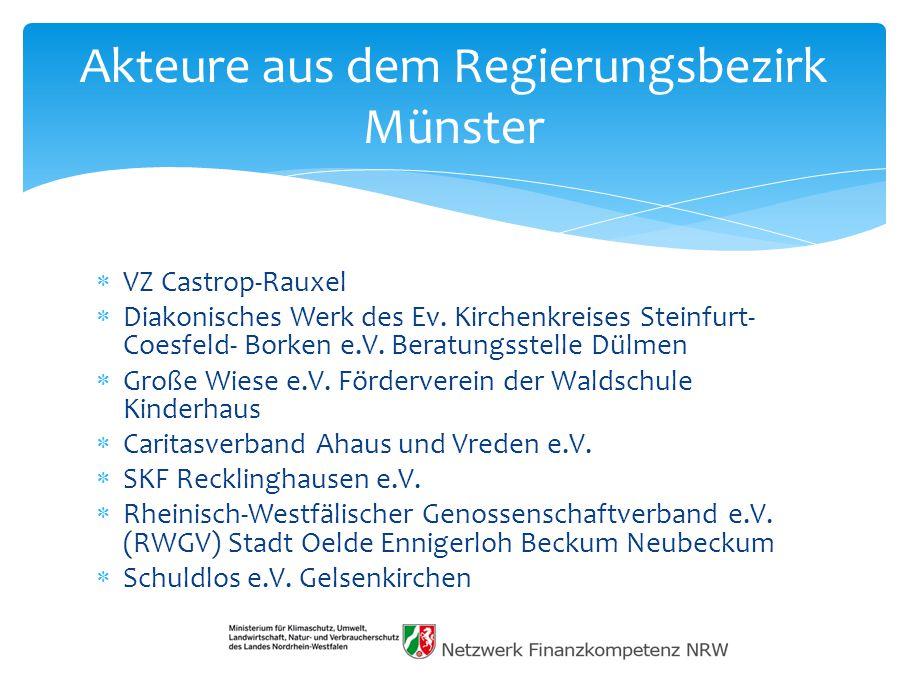 Akteure aus dem Regierungsbezirk Münster