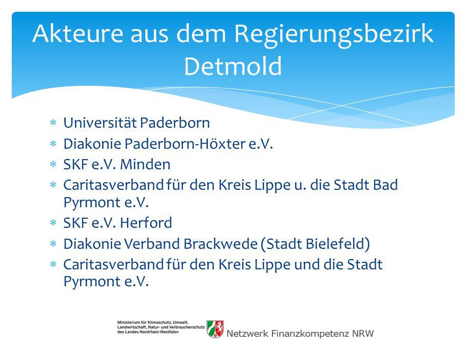 Akteure aus dem Regierungsbezirk Detmold