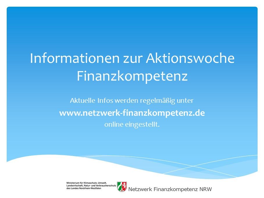 Informationen zur Aktionswoche Finanzkompetenz