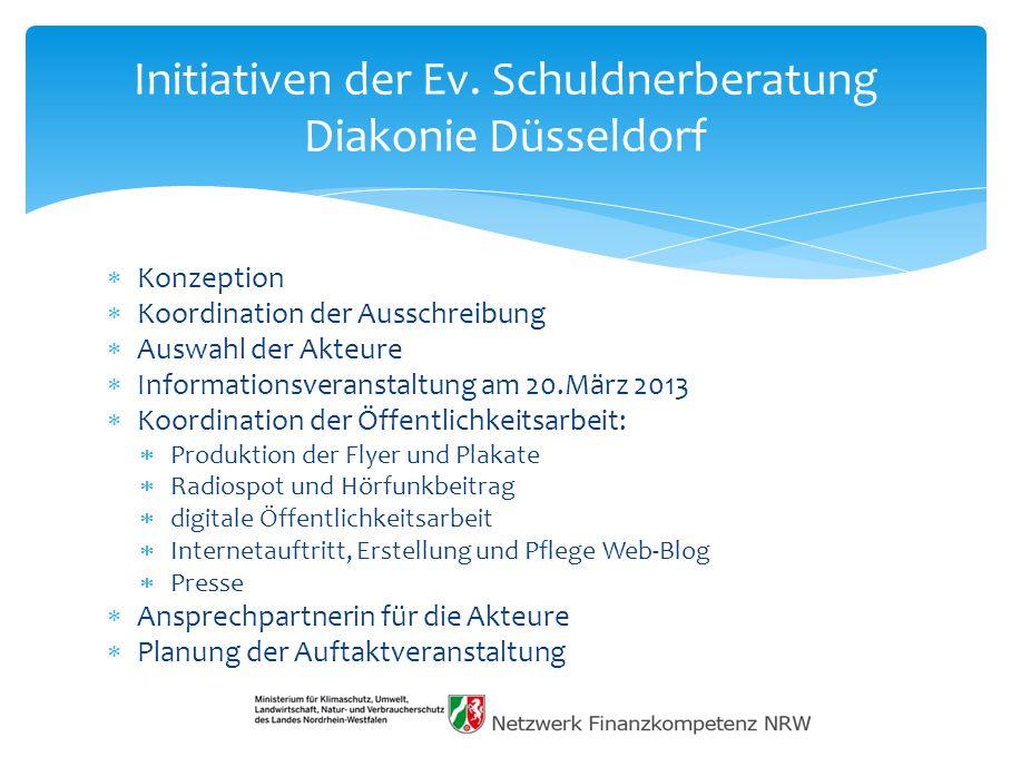 Initiativen der Ev. Schuldnerberatung Diakonie Düsseldorf