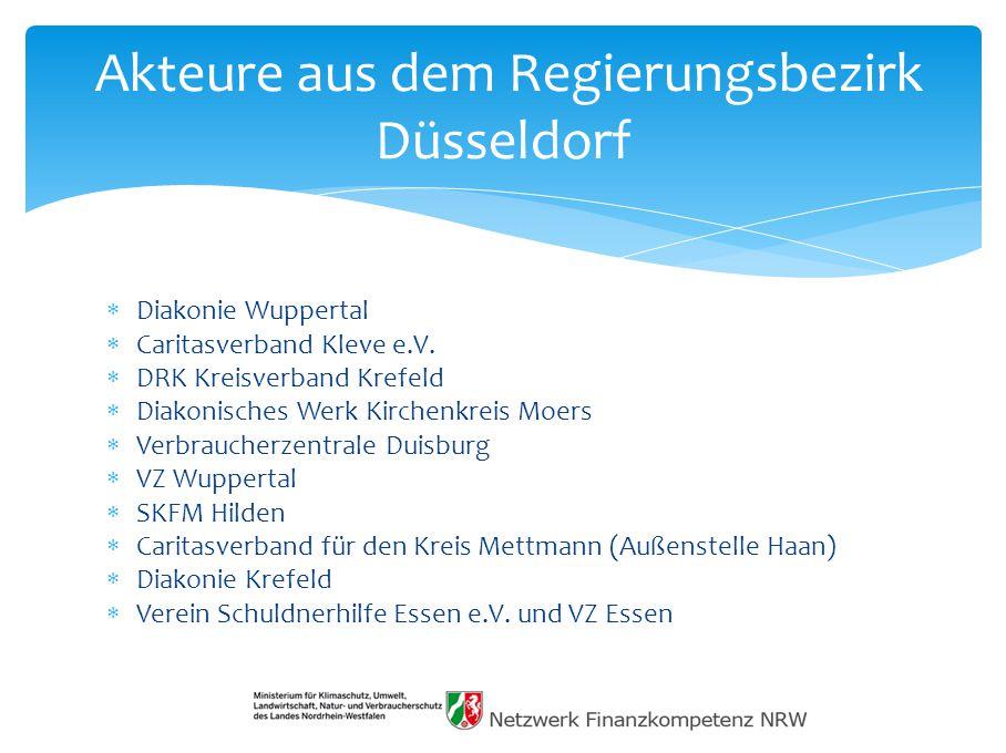 Akteure aus dem Regierungsbezirk Düsseldorf