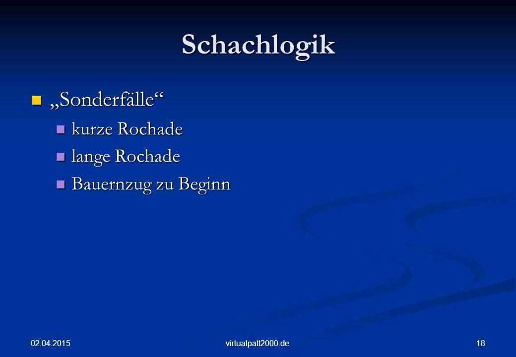 """Schachlogik """"Sonderfälle kurze Rochade lange Rochade"""