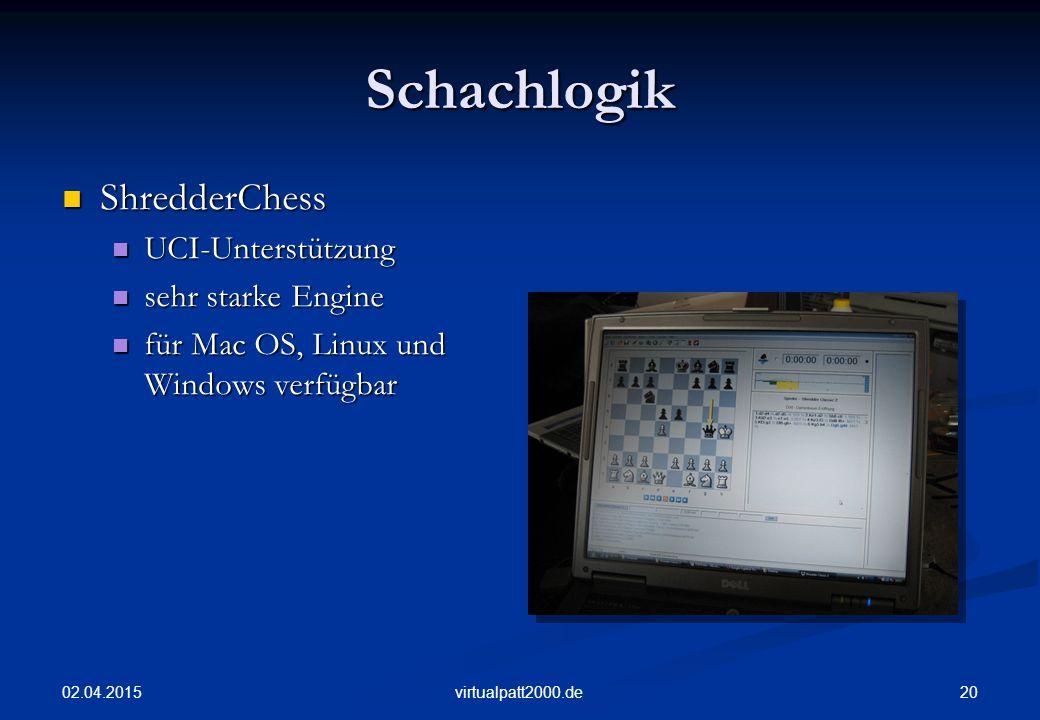 Schachlogik ShredderChess UCI-Unterstützung sehr starke Engine