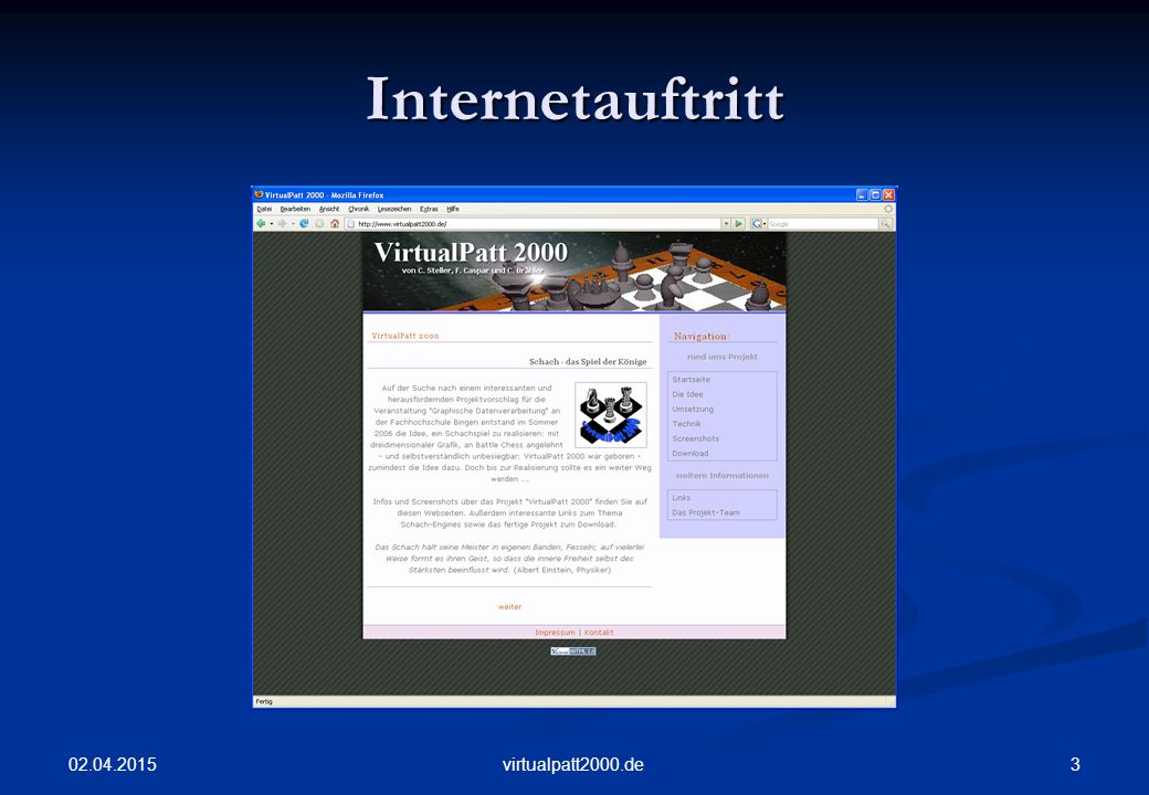 Internetauftritt 09.04.2017 virtualpatt2000.de