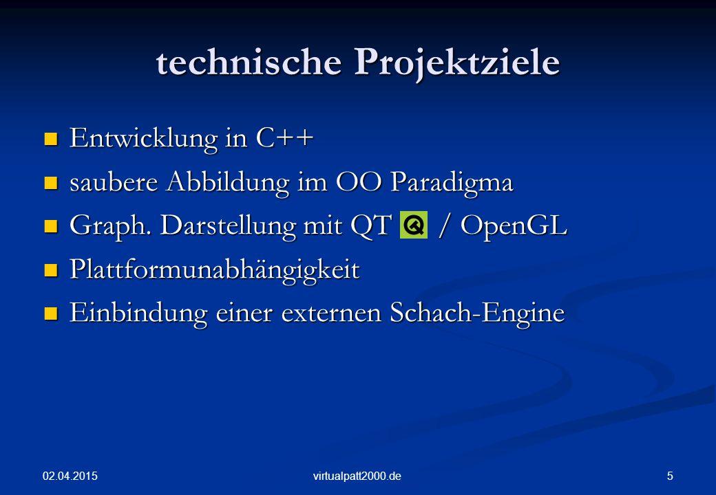 technische Projektziele