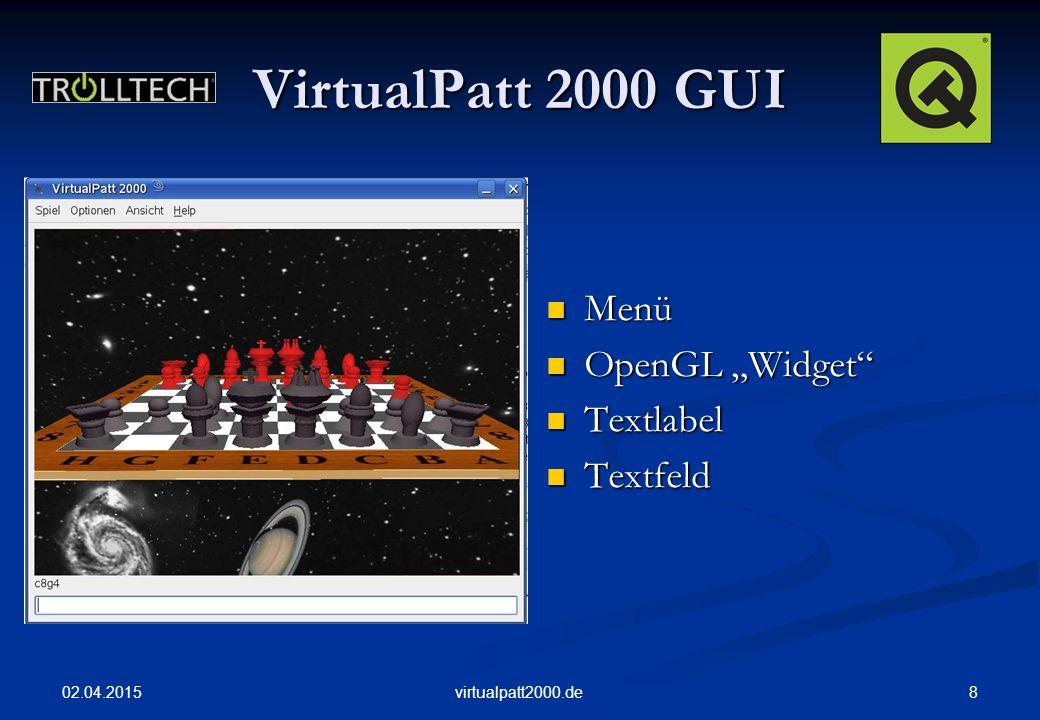 "VirtualPatt 2000 GUI Menü OpenGL ""Widget Textlabel Textfeld"