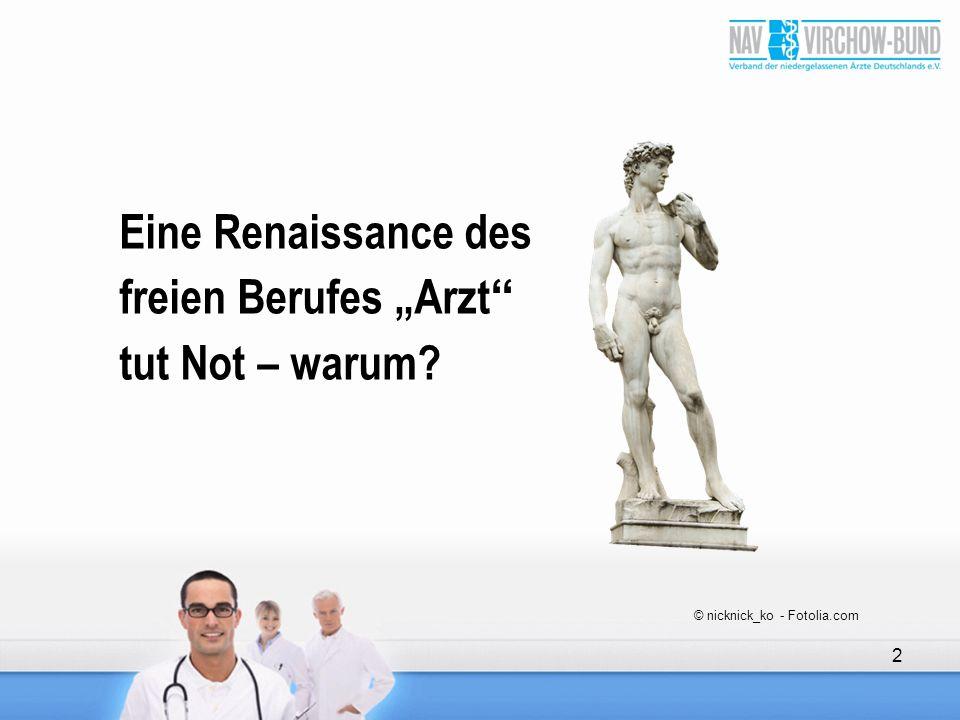 """Eine Renaissance des freien Berufes """"Arzt tut Not – warum"""