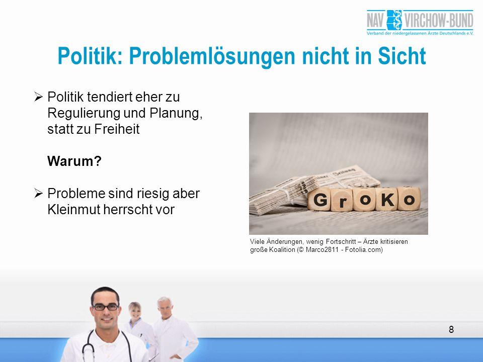 Politik: Problemlösungen nicht in Sicht