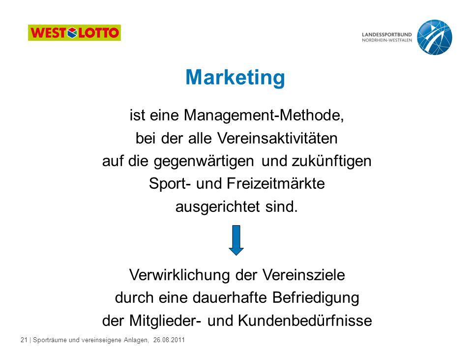 Marketing ist eine Management-Methode, bei der alle Vereinsaktivitäten