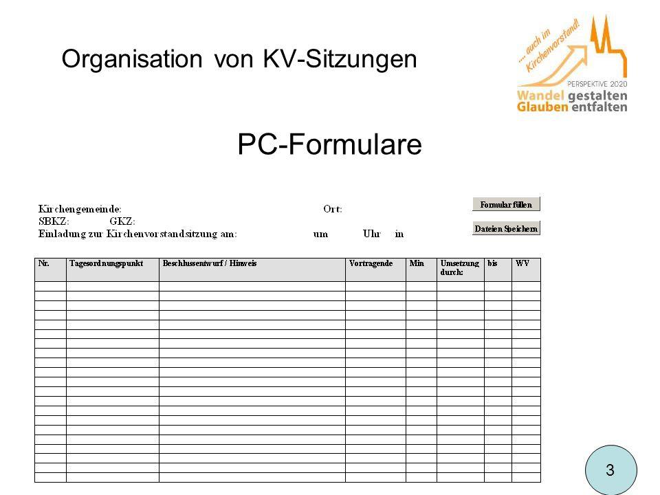 Organisation von KV-Sitzungen