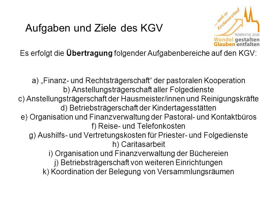 Aufgaben und Ziele des KGV