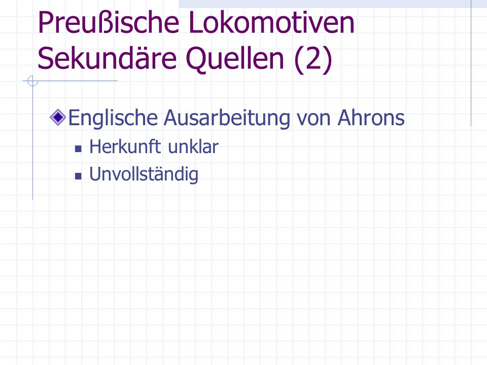 Preußische Lokomotiven Sekundäre Quellen (2)