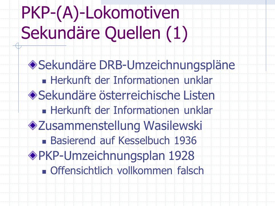 PKP-(A)-Lokomotiven Sekundäre Quellen (1)