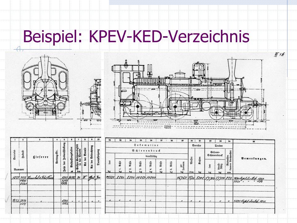 Beispiel: KPEV-KED-Verzeichnis
