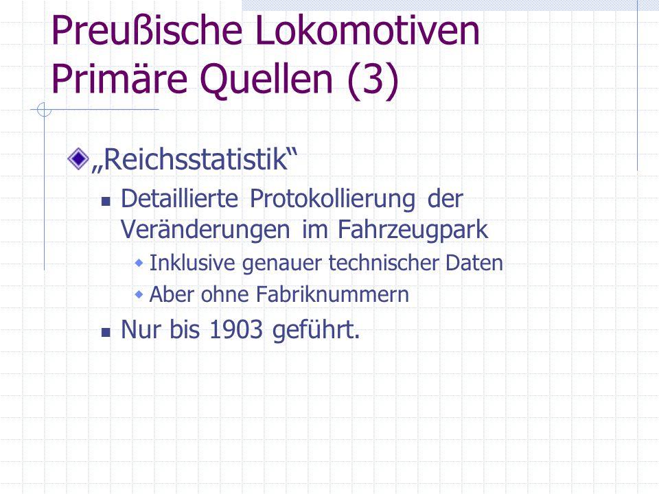 Preußische Lokomotiven Primäre Quellen (3)
