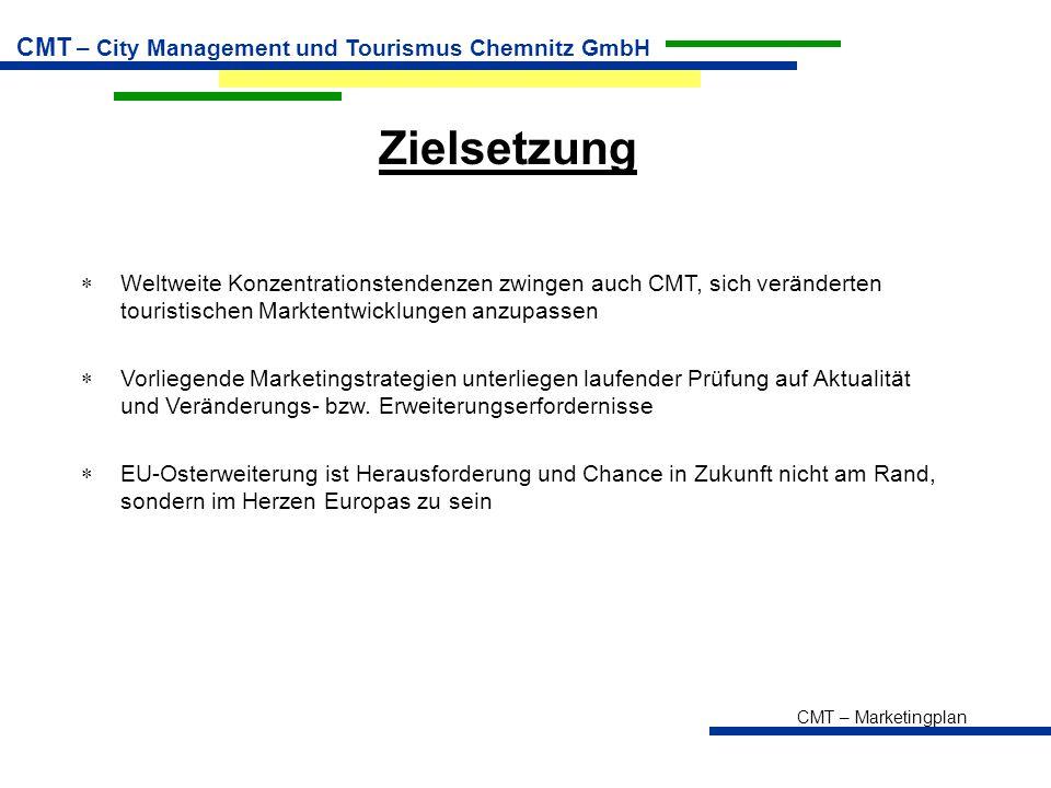 Zielsetzung Weltweite Konzentrationstendenzen zwingen auch CMT, sich veränderten touristischen Marktentwicklungen anzupassen.