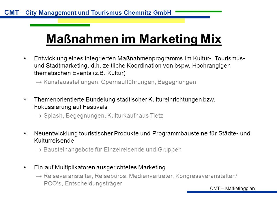 Maßnahmen im Marketing Mix