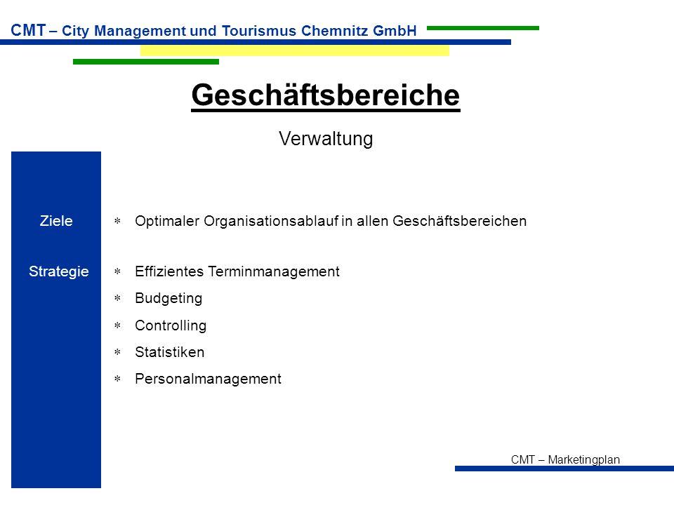 Geschäftsbereiche Verwaltung Ziele