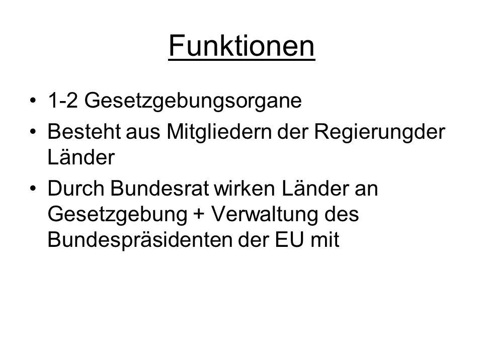 Funktionen 1-2 Gesetzgebungsorgane