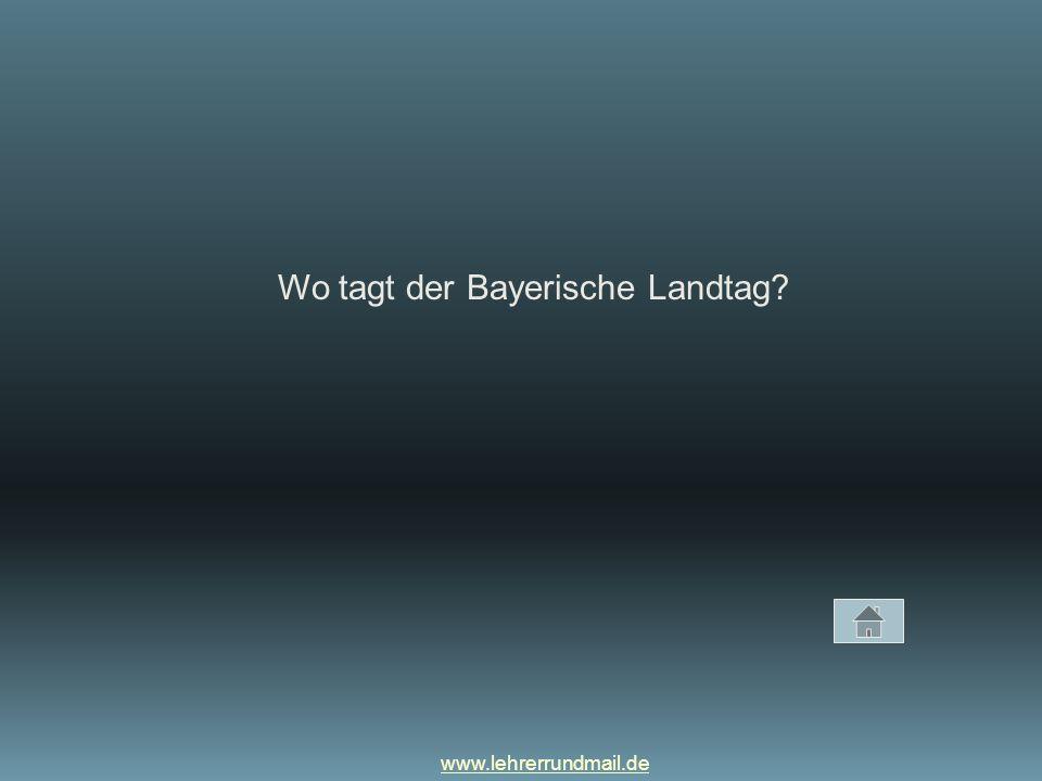 Wo tagt der Bayerische Landtag