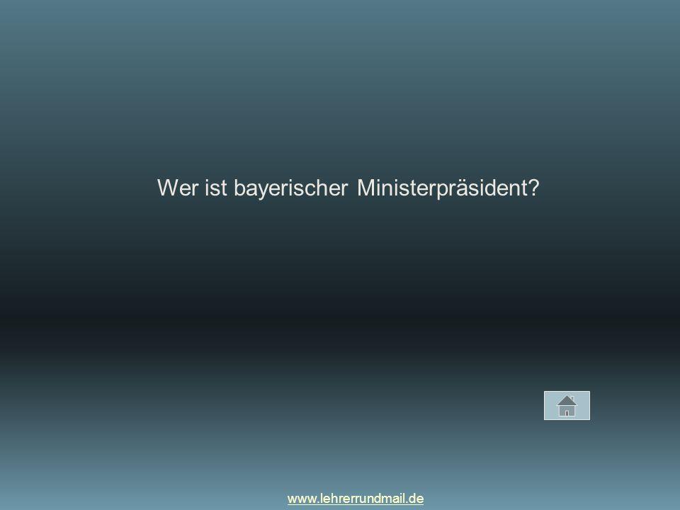Wer ist bayerischer Ministerpräsident