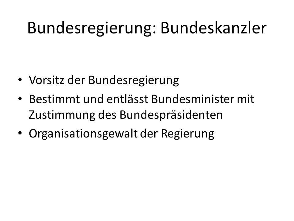 Bundesregierung: Bundeskanzler