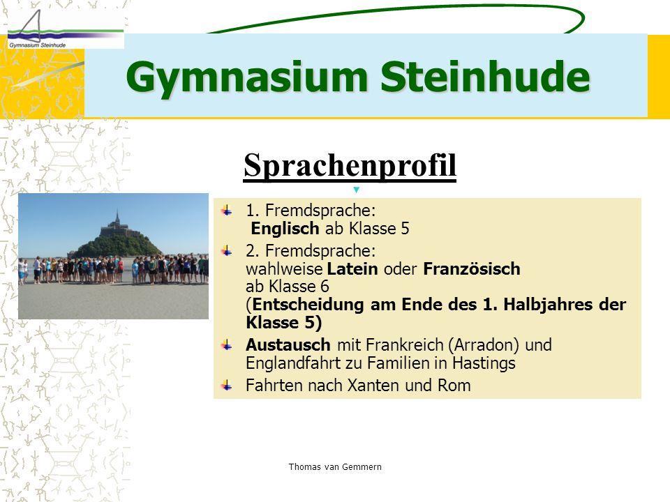 Gymnasium Steinhude Sprachenprofil