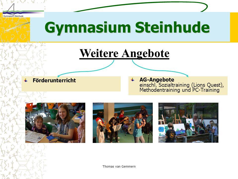Gymnasium Steinhude Weitere Angebote Förderunterricht