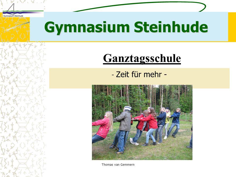 Gymnasium Steinhude Ganztagsschule - Zeit für mehr -