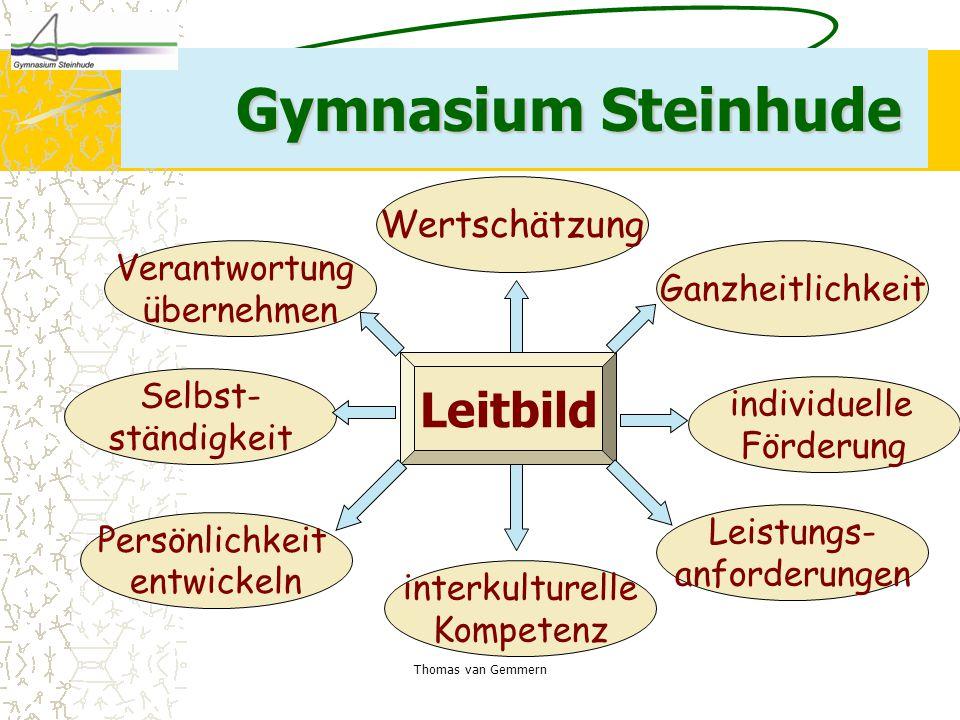 Gymnasium Steinhude Leitbild Wertschätzung Verantwortung