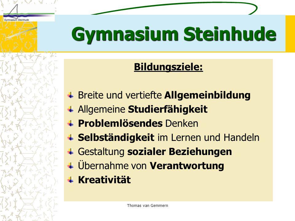 Gymnasium Steinhude Bildungsziele: