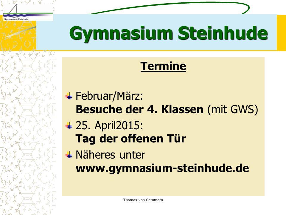Gymnasium Steinhude Termine
