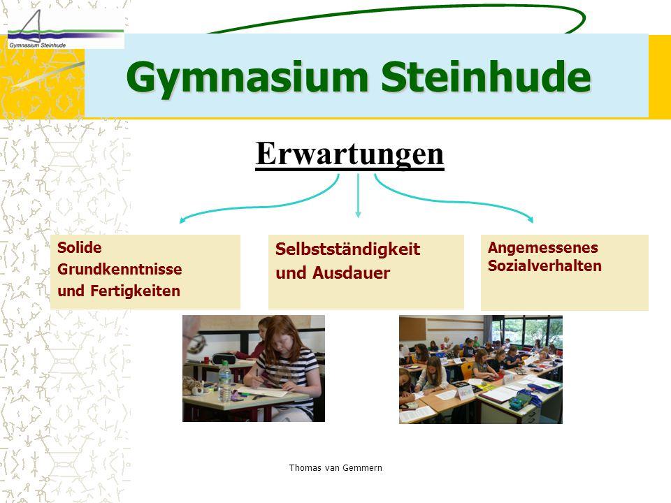 Gymnasium Steinhude Erwartungen Selbstständigkeit und Ausdauer Solide