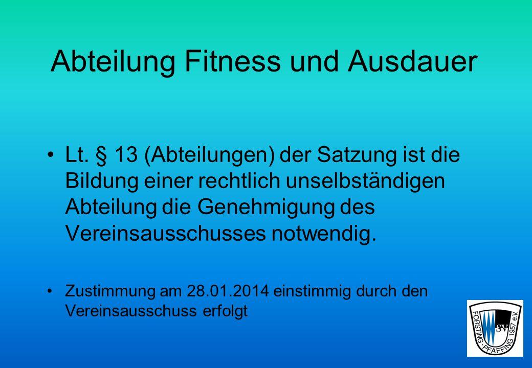 Abteilung Fitness und Ausdauer