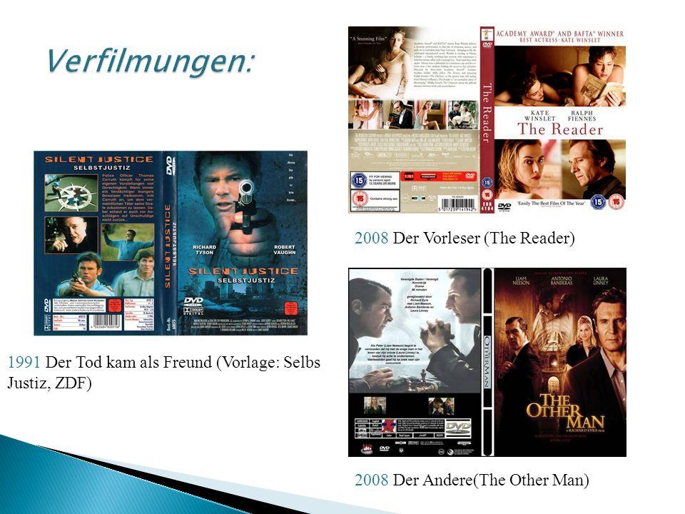 Verfilmungen: 2008 Der Vorleser (The Reader)