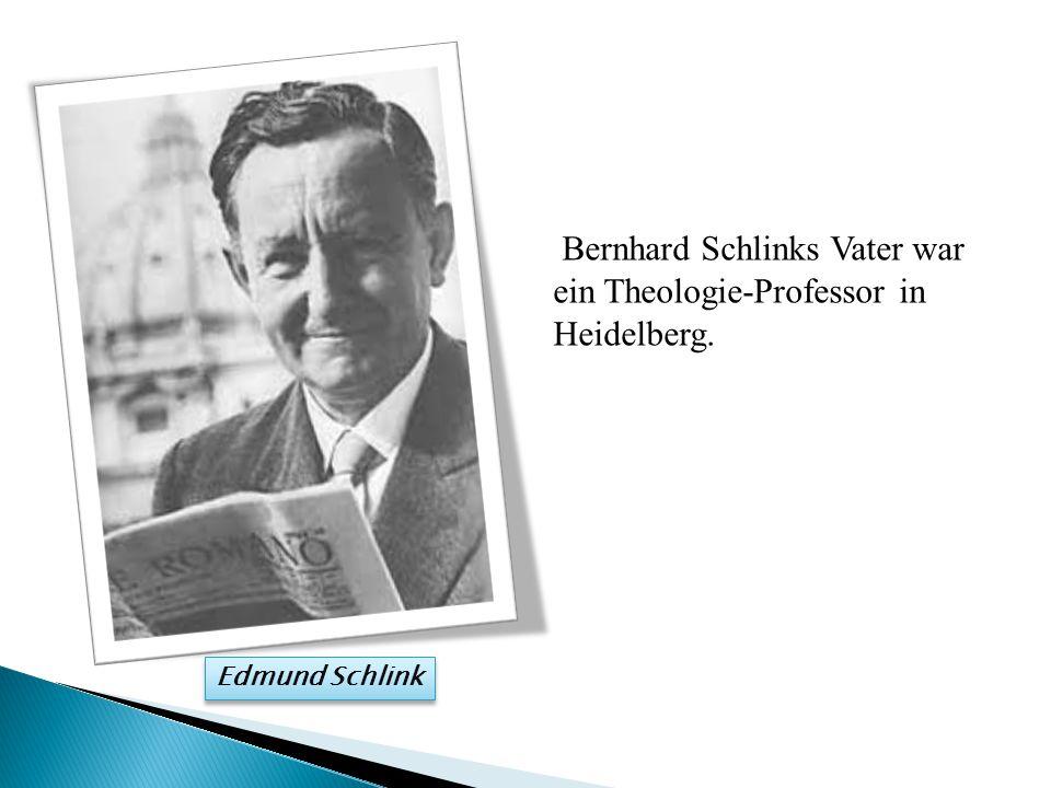 Bernhard Schlinks Vater war ein Theologie-Professor in Heidelberg.