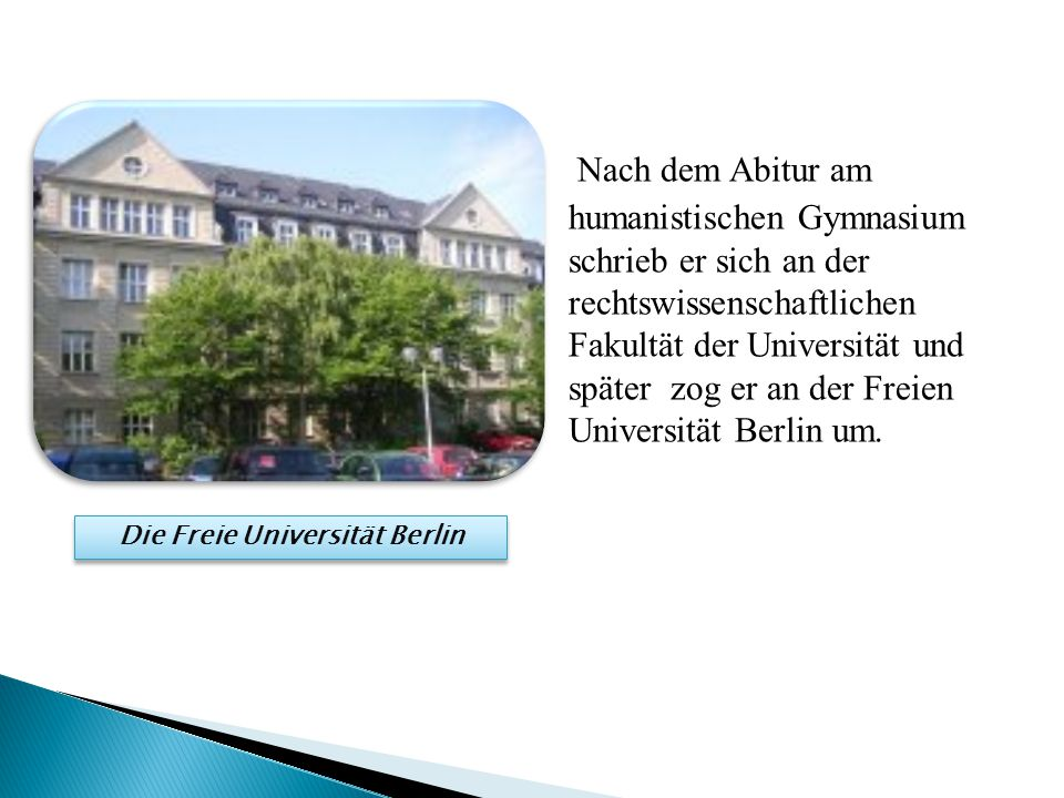 Die Freie Universität Berlin