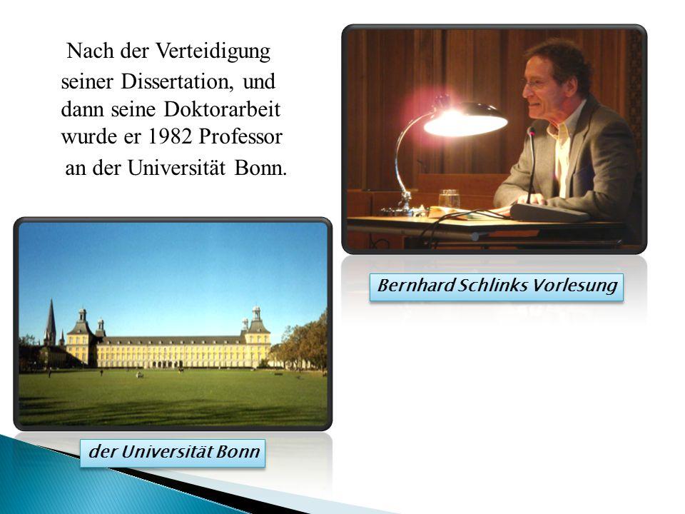 Nach der Verteidigung seiner Dissertation, und dann seine Doktorarbeit wurde er 1982 Professor