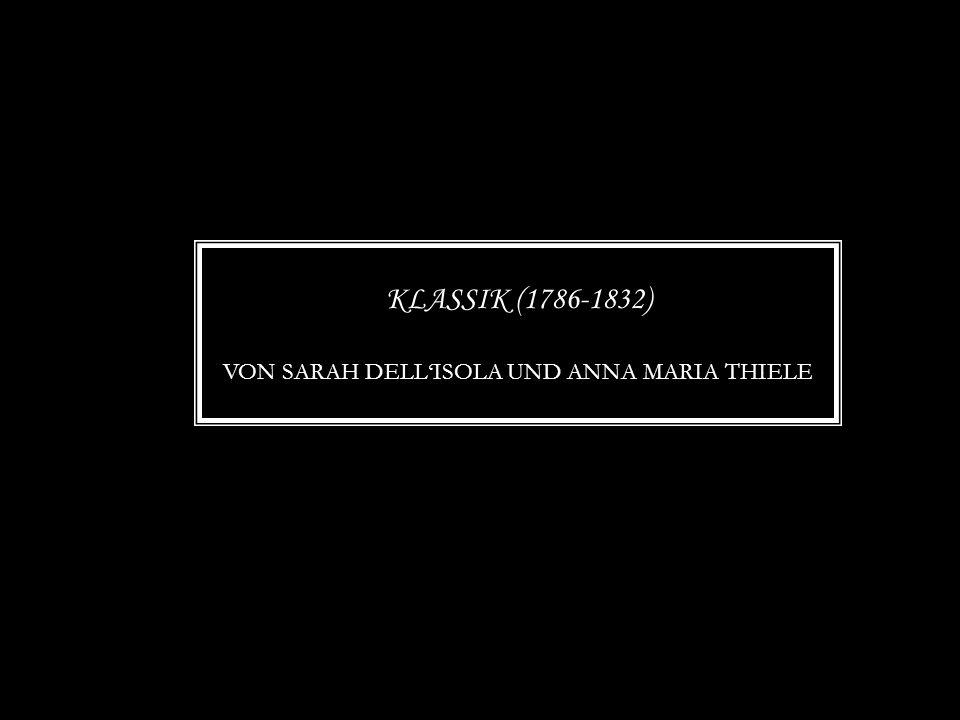 Klassik (1786-1832) Von sarah dell'isola und anna maria thiele