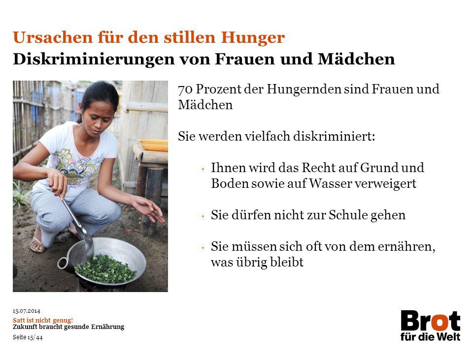 Ursachen für den stillen Hunger
