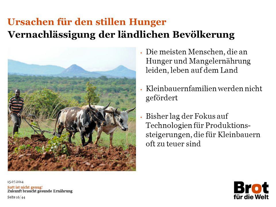 Neues Foto suchen! Ursachen für den stillen Hunger