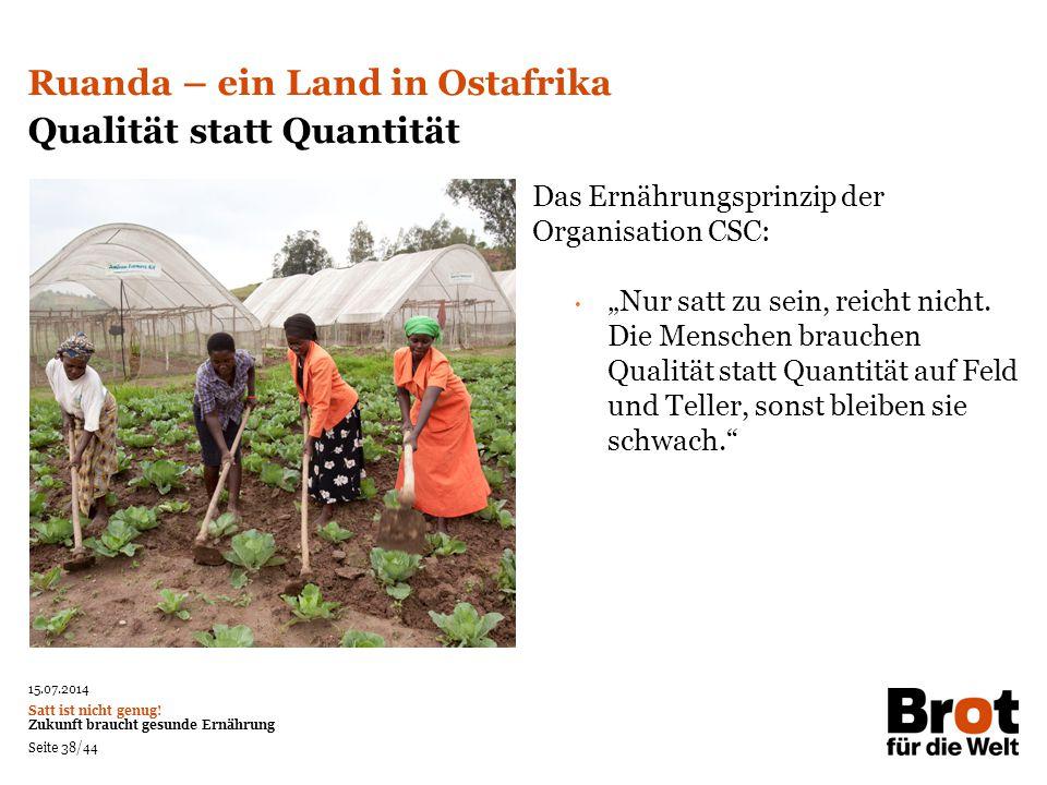 Ruanda – ein Land in Ostafrika Qualität statt Quantität