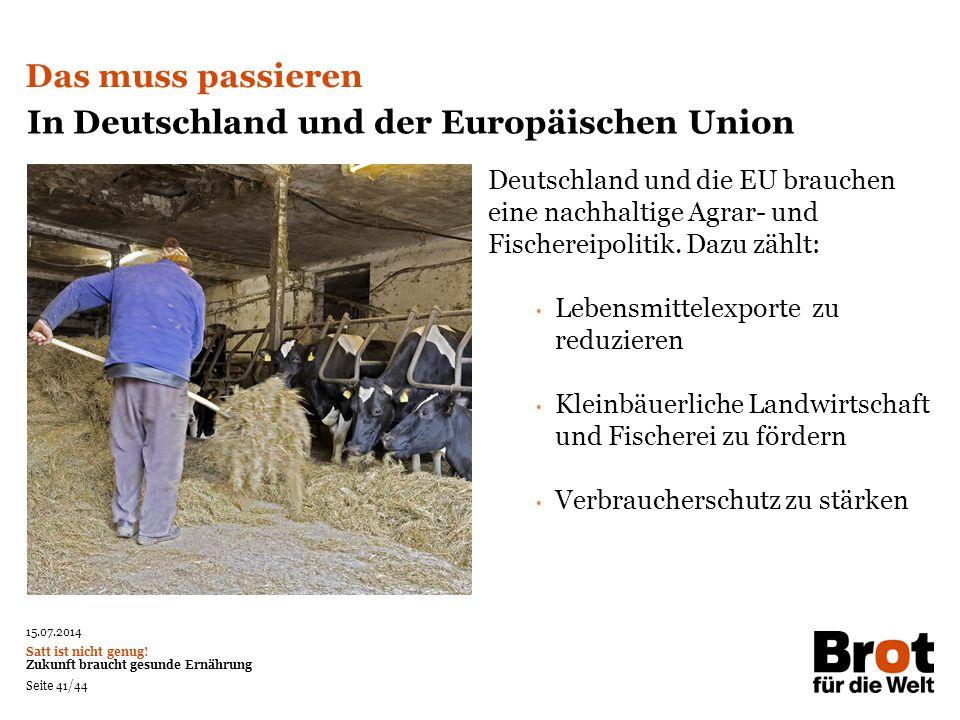 In Deutschland und der Europäischen Union