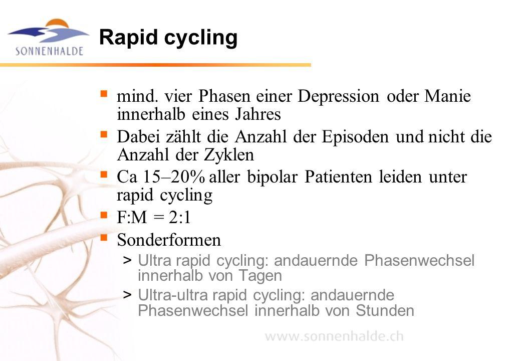 Rapid cycling mind. vier Phasen einer Depression oder Manie innerhalb eines Jahres.