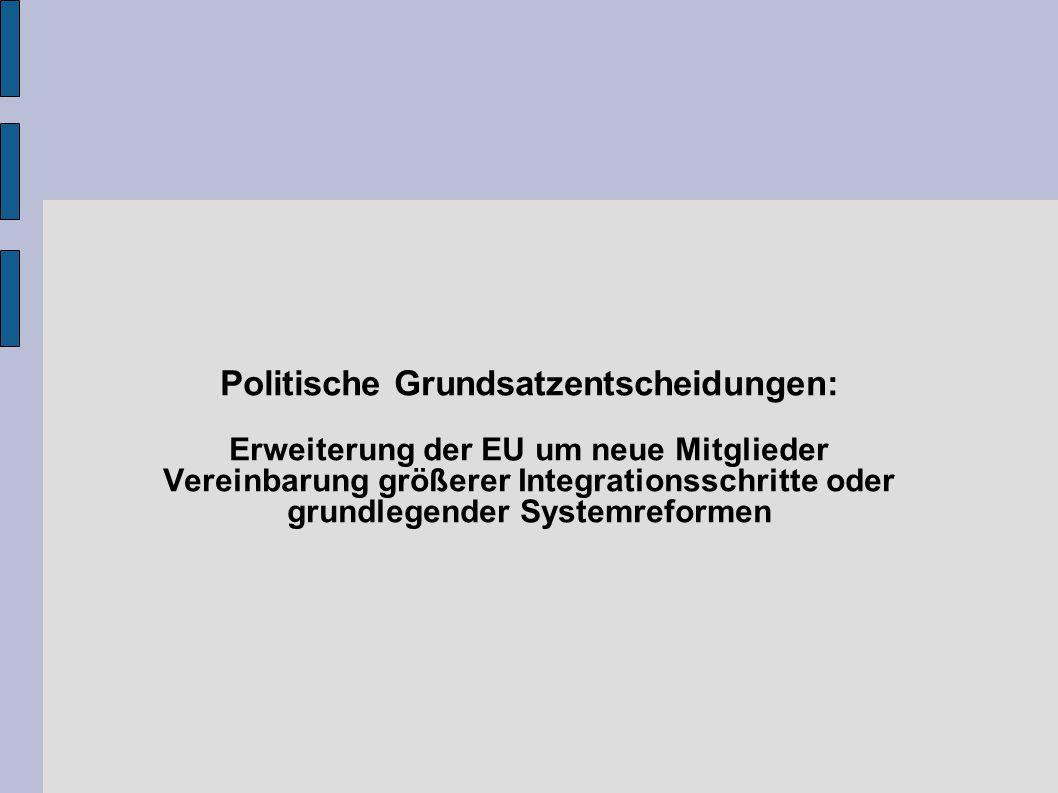 Politische Grundsatzentscheidungen: