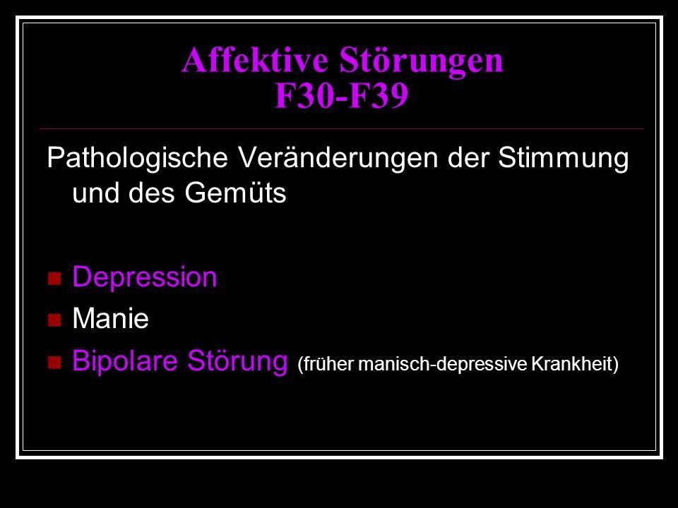 Affektive Störungen F30-F39