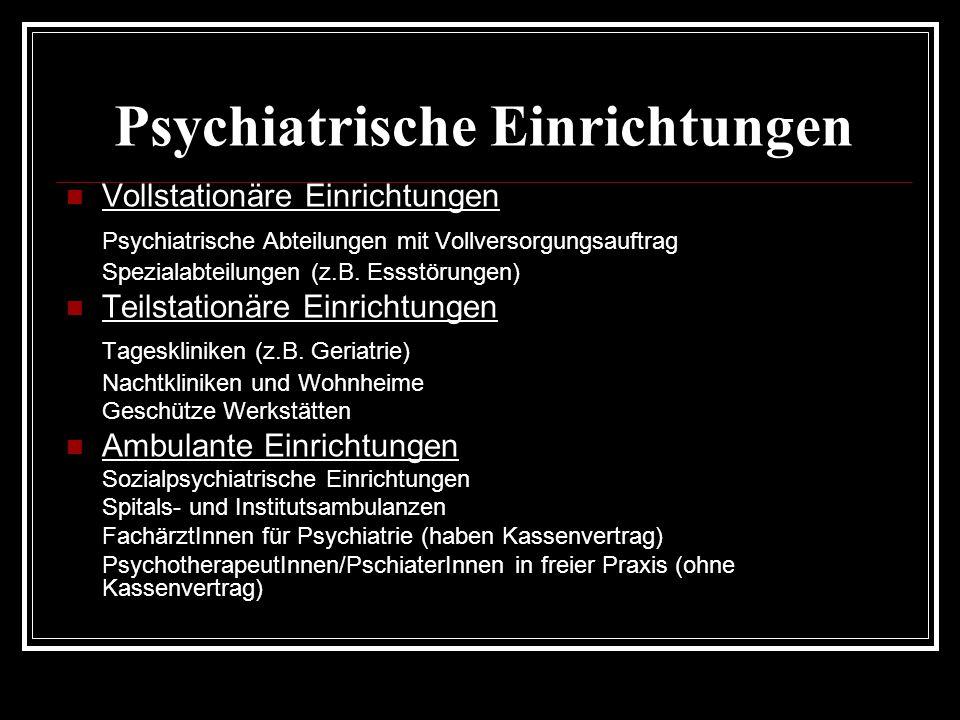 Psychiatrische Einrichtungen