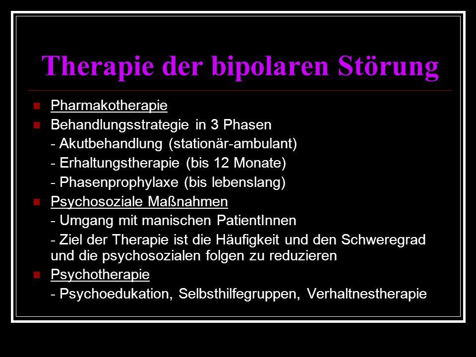 Therapie der bipolaren Störung