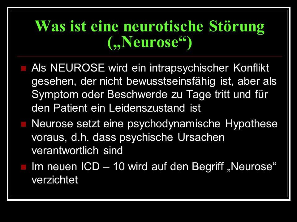 """Was ist eine neurotische Störung (""""Neurose )"""